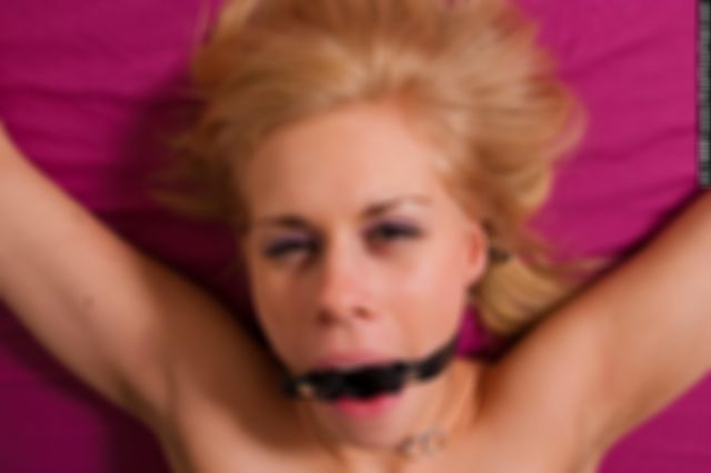 DONNA TIED UP IN BED NAKED AND RING GAGGED