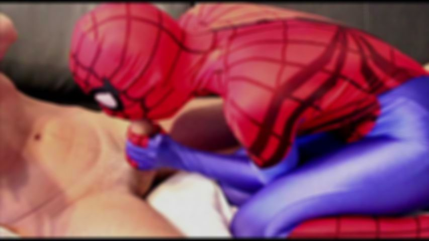 47 Superheroines Spidergirl Blow Job Zentai