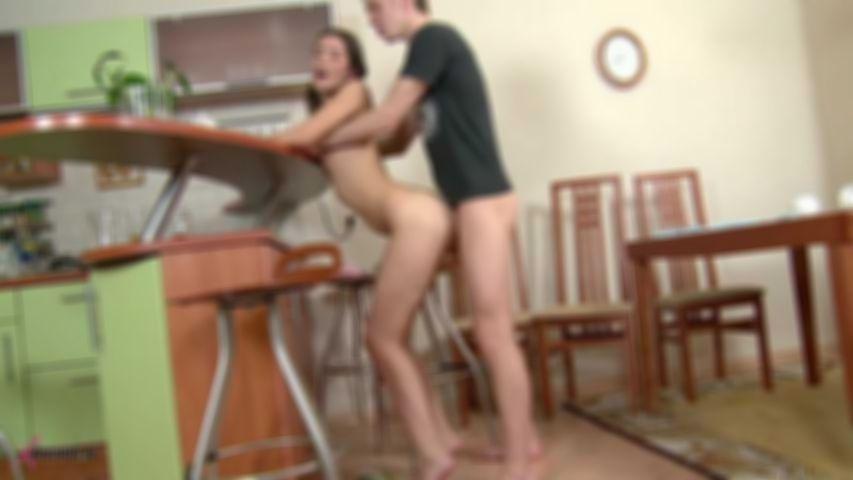 Dusya's Boyfriend Oscillates His Stem In The Kitchen