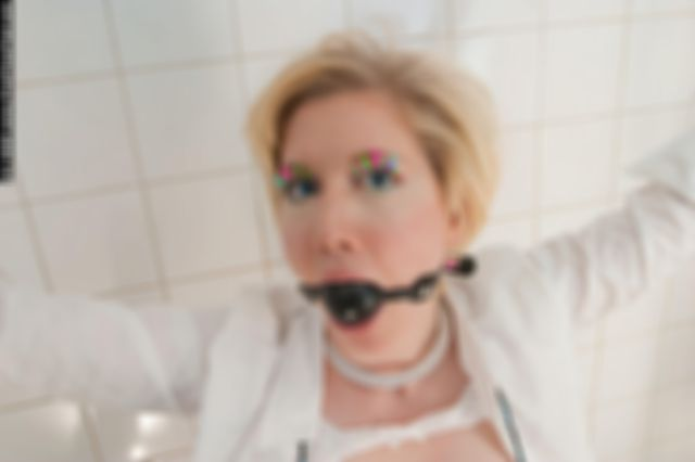 MONICA TIED UP NAKED, BALLGAGGED AND DOMINATED IN THE BATHROOM