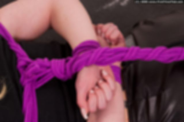 MONICA HOGTIED AND BALLGAGGED IN THE STUDIO