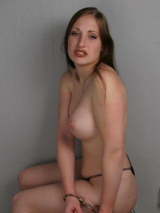 Johanna handcuffed topless - 1