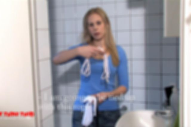 DONNA TIED UP NAKED IN THE BATHTUB AND DOMINATED