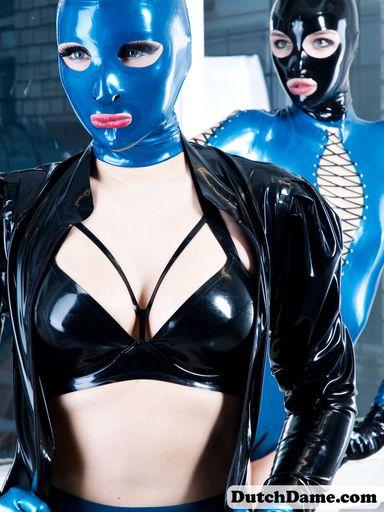 Metallic Blue Latex