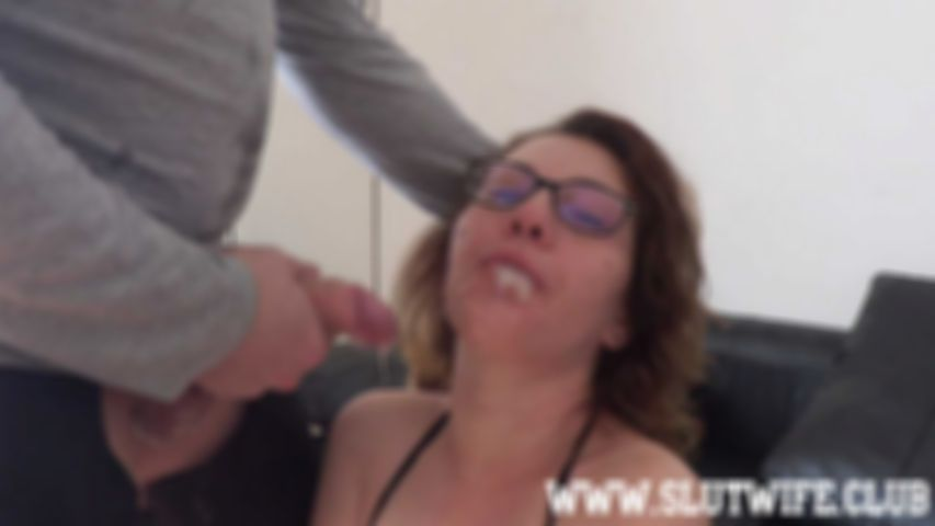 {Blow'n'Gag] Carla Sky gets a rough sloppy facefuck and spit on her face