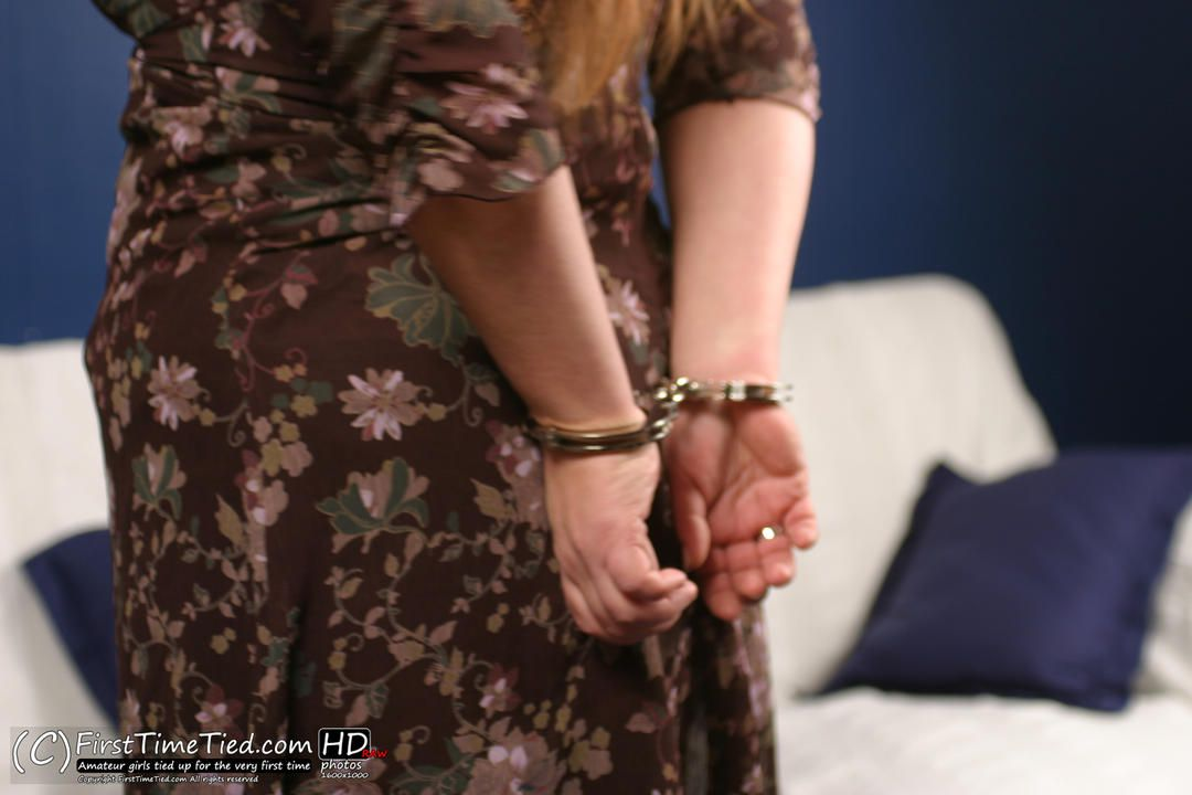 Pernilla handcuffed for the very first time - 2