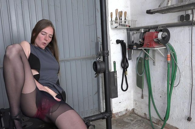 Fisting in the garage
