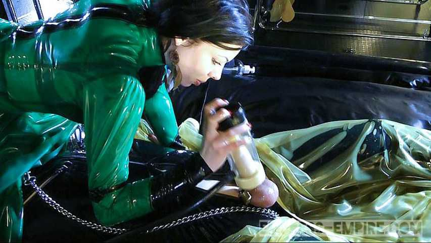 Lady Ashley - Milked by the Pump and relocked again