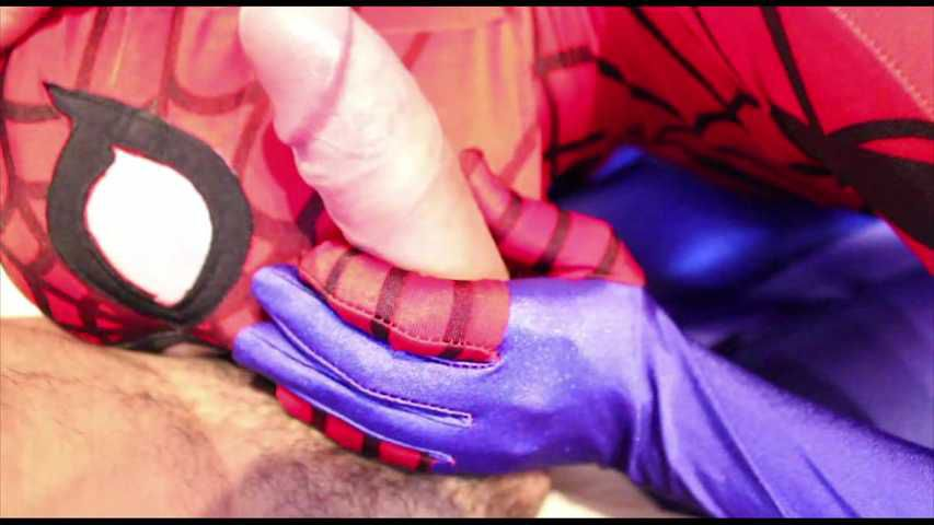 47 Superheroines Spidergirl Blow Job Zentai