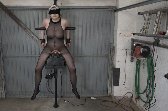 Katia rides the Sybian