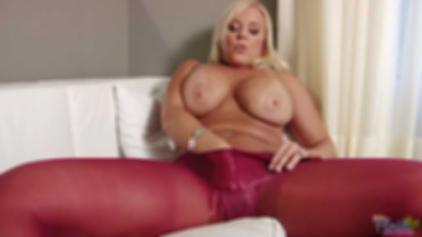 Kinky Big Tit Milf Alexis In Red Pantyhose