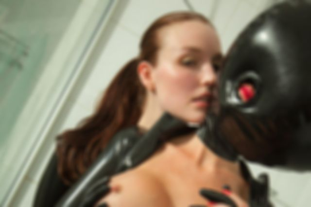 When its so hot, latex in the shower is the only option