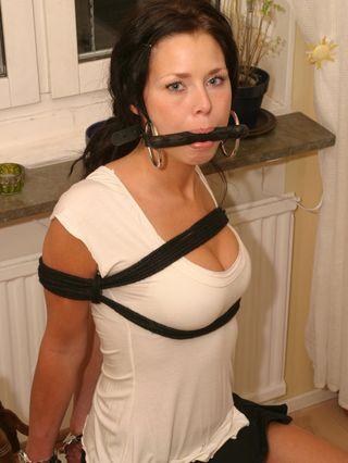 Paula handcuffed and tied up 3