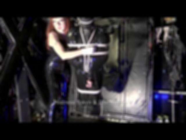 Bondage Gyroscope Clip 5 - Electro CBT and NT in rubber Shibari suspension