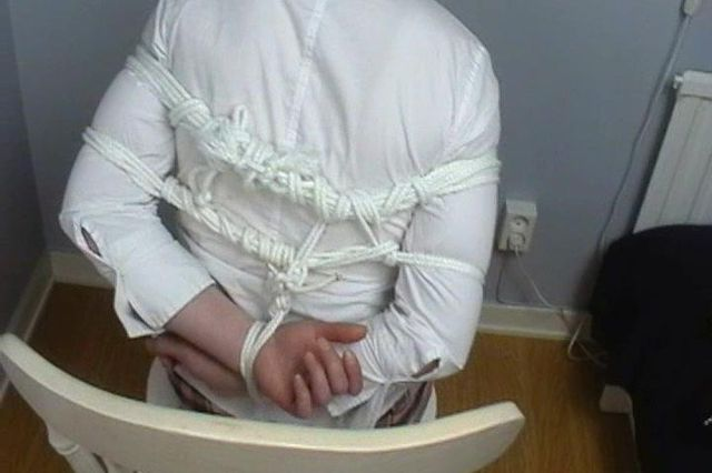 JOHANNA THE SCHOOL GIRL TIGHTLY TIED UP AND BALLGAGGED