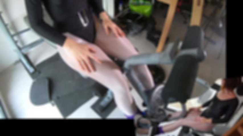 127 Blowjob at gym workout in leotard and pantyhose