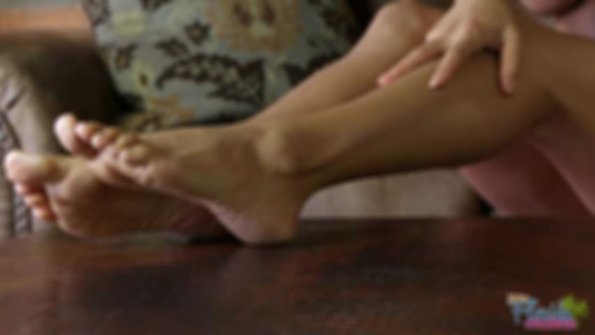 Worship My High Heels and Bare Feet with Your Mouth