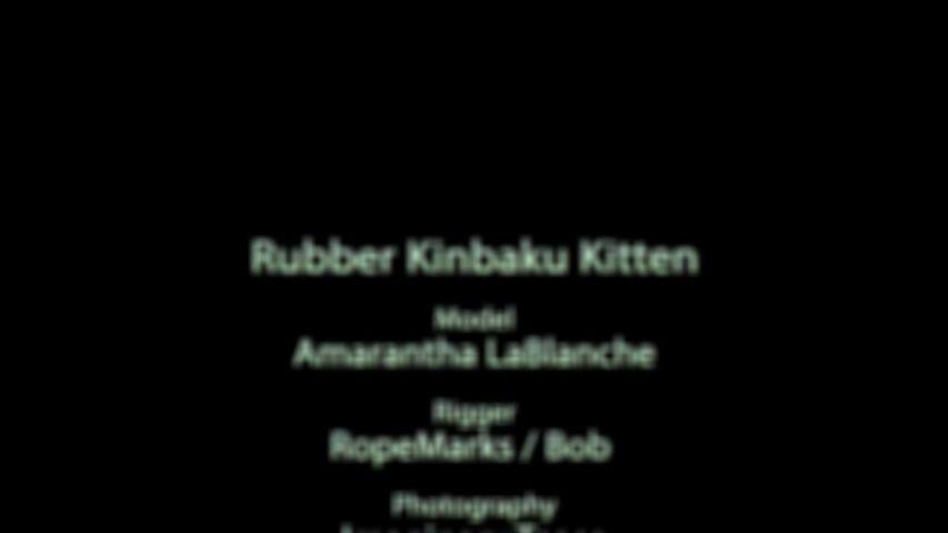 Rubber kinbaku kitten - video