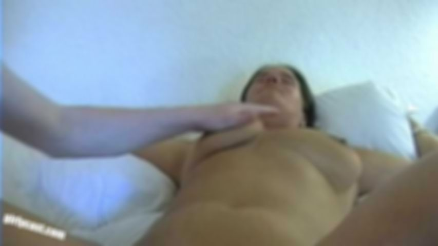 Kerstin shaved, licked and with the dildo...