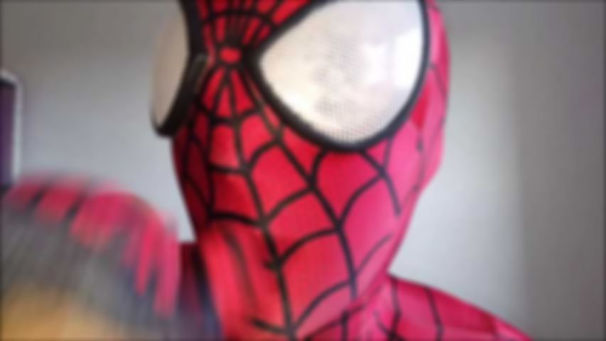 98 New SpiderGirl Costume Blowjob