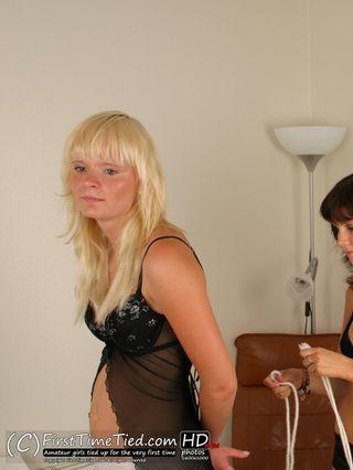 Girlfriend Bondage - Elisabet is tying up Mikaela - 1
