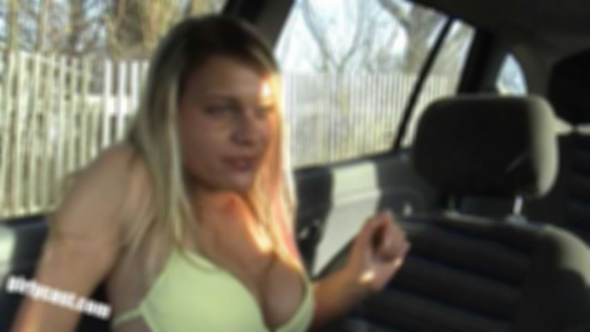 Teen Adina Ripped off in the car