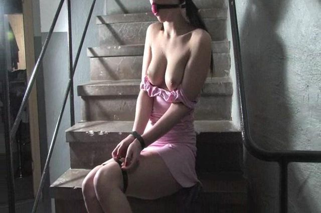 ERIKA TAPE TIED AND DROOLING