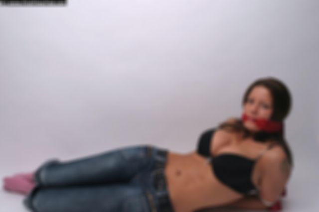 LINA TIED UP AND GAGGED IN THE STUDIO
