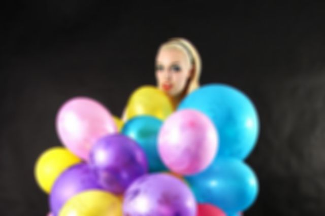 Playing with balloons