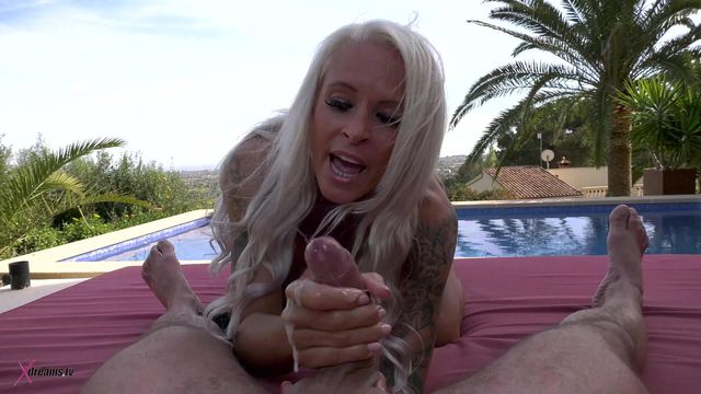 Sophie Logan - Chill-Out Area Outdoor POV Handjob Poolside
