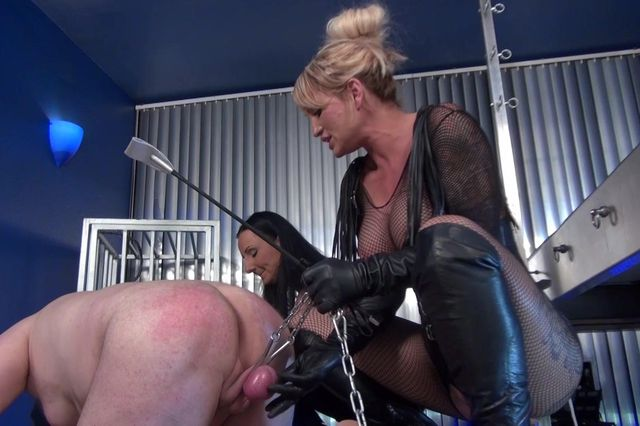 Femdom Threesome Cock Torture