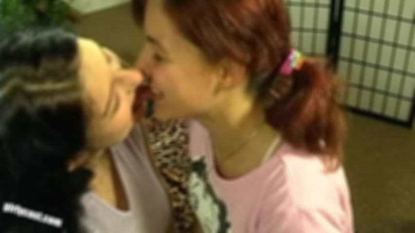 Celine & Paulina first lesbian experience