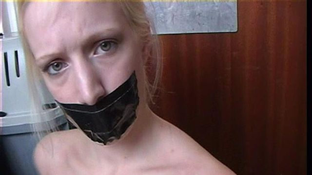 VERONIKA ALL TAPED UP TOPLESS AND TAPEGAGGED