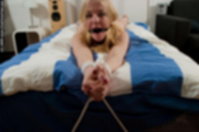 MOLLY TIED UP NAKED AND GAGGED IN BED 2