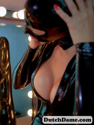 Two girls in black catsuits