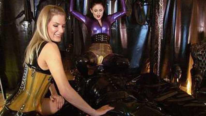 Lady Black Diamoond & Bizarr Lady Alice - Gummi-Entsorgungs-Objekt