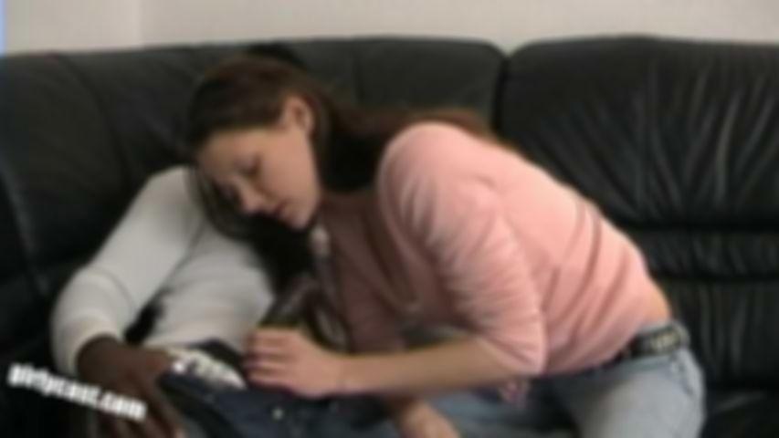 Teen Hanna's first BBC (Big Black Cock)