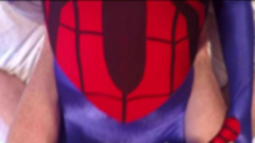 61 Superheroine Spidergirl zentai back