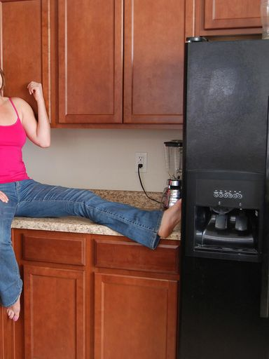 Amateur Milf Misty Summer Stripping In Kitchen