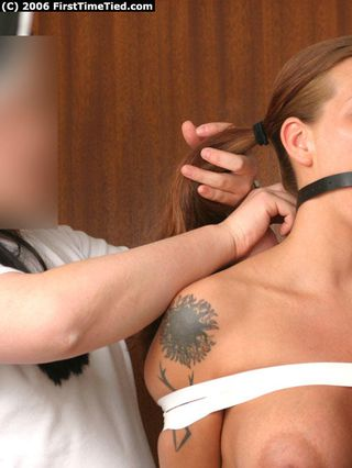LINA TAPETIED TOPLESS AND BALLGAGGED