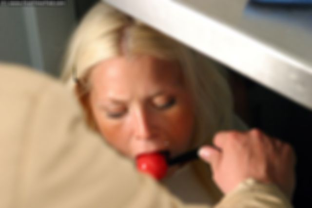 PAULA IS TIED UP AND BALLGAGGED UNDER THE KITCHEN SINK