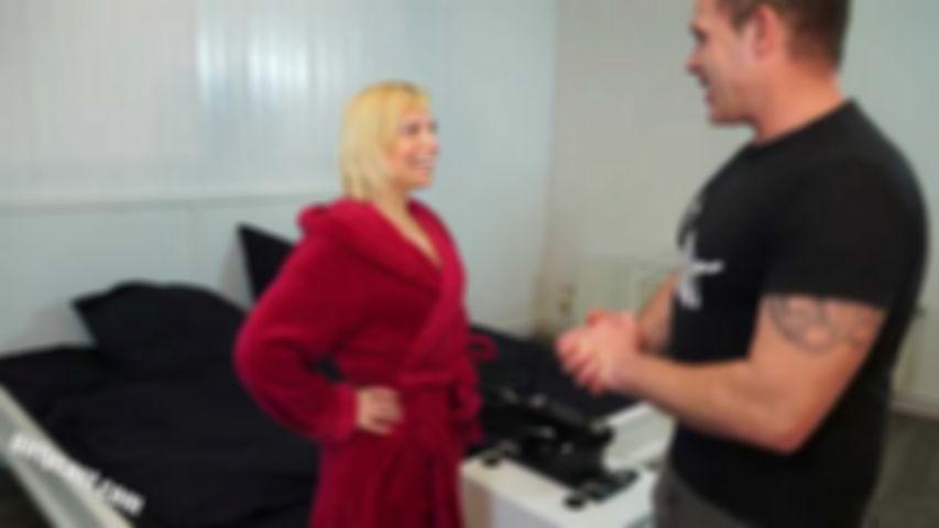 Our horny teacher Svenja the first time ...