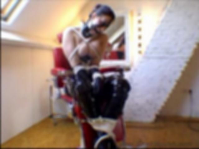 Chantal fetish dresses, bound and gagged