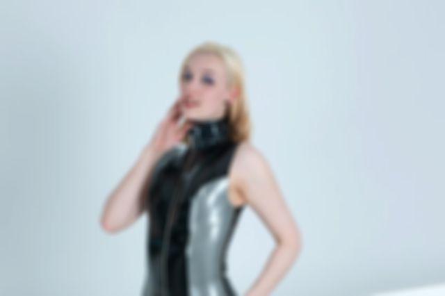 Metallic Pewter Dress