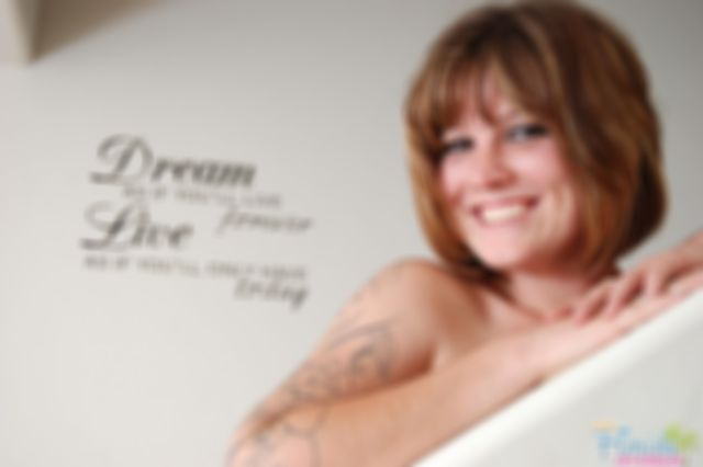 Hot Redhead Milf Stripping On Stairs