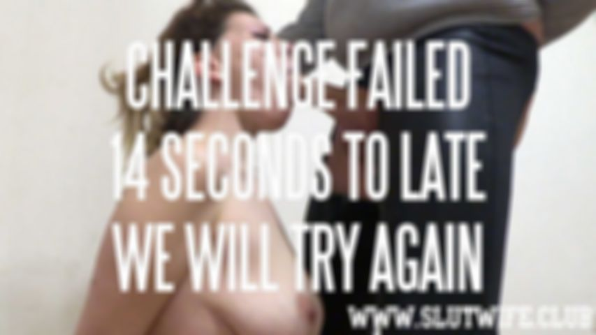 [Blow'n'Gag] No-Break blowjob challenge for Carla Sky: Make me cum in under 1 minute