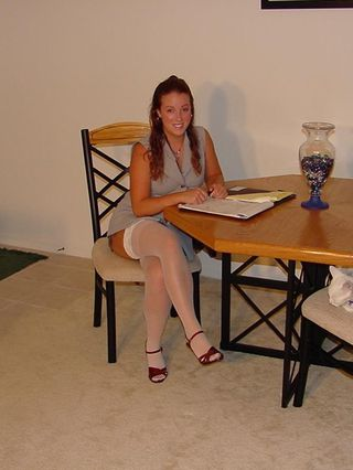 Teen Cynna Lynn Comes Home From Job Interview..Upskirt